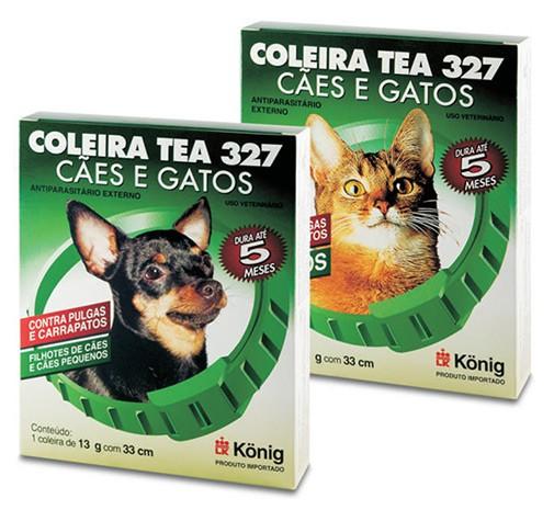 Linha TEA. Antiparasitários externos para cães e gatos. | König